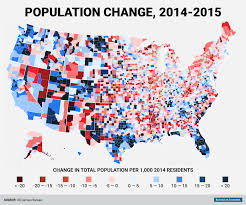 Map Of Red And Blue States by These Are The Fastest Growing And Shrinking Counties In America