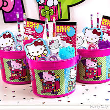 kitty favor bucket idea party