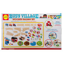 alex toys busy village wooden railway set target