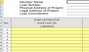 residential construction budget template excel for free