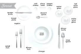 proper table setting etiquette casual table settings cool modern table setting ideas in dining room