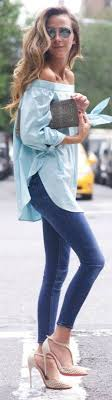 light blue off the shoulder top 53 best off the shoulder top images on pinterest feminine fashion