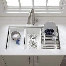 KOHLER KNA Prolific Undermount Single Bowl Kitchen Sink With - Kitchen sink accessories
