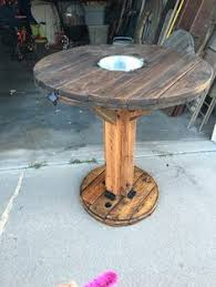 outdoor tables made out of wooden wire spools high bar top cable spool table cable spool tables cable and bar