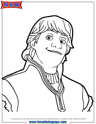 kristoff frozen portrait coloring u0026 coloring pages