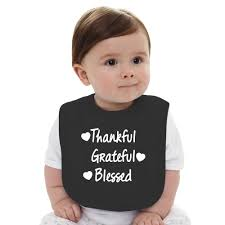thankful grateful blessed shirt thanksgiving baby bib kidozi