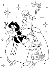 princess coloring pages girls jasmine cartoon coloring pages
