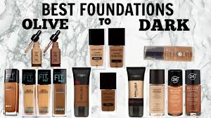 best affordable foundations for women of color olive to dark