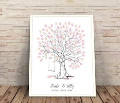 wedding gift personalised finger print trees wedding gift ideas customised wedding gift