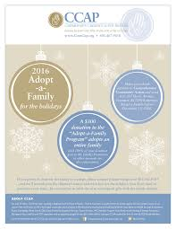 ccap s 2016 giving caign adopt a family and giving