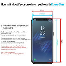 whitestone dome glass for galaxy s8 tempered screen protector