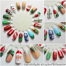easy christmas nail art designs diy 2014 sara nail easy drawing