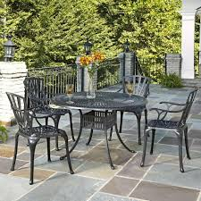 Cast Aluminum Patio Dining Sets - home styles largo 7 piece outdoor patio dining set with umbrella
