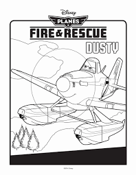 planes fire rescue coloring pages