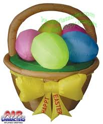 Easter Decorations With Lights by Easter Basket With 5 Eggs Easter Inflatables 2014 Pinterest