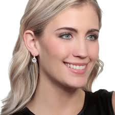 leverback earrings oval cubic zirconia halo leverback earrings in 14k yellow gold
