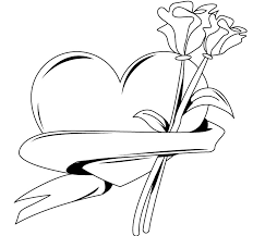 Hand Washing Coloring Sheet - heart with banner coloring page printable of handwashing coloring
