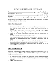 Notice Of Termination Of Service Contract by Lawn Maintenance Contract Images Lawn Maintenance Contract
