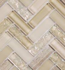 Kitchen Backsplash Glass Tile Beige And Tan Cracked Glass Tile With Stone And A Hint Of