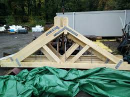 industrial style oak king post roof trusses hector and cedric