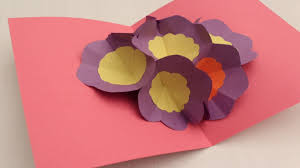 how to make a 3d flower pop up greeting card youtube
