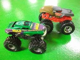 monster jam truck prime evil incredible hulk 1 64 scale lot of 2