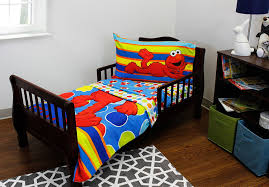 Spongebob Toddler Comforter Set by Amazon Com Sesame Street Elmo 4 Piece Toddler Bedding Set Baby