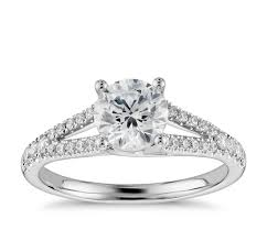 1 3 ct tw split shank trellis diamond engagement ring in 14k
