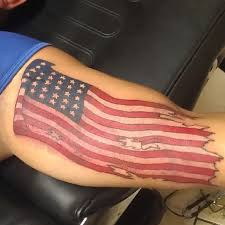 usa america waving flag color artistic tattoo uncategorized