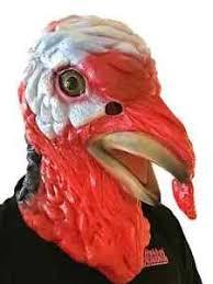 deluxe turkey mask animal rooster chicken fancy dress