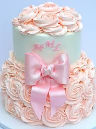 how to make a cake for a girl the roses only make bottom 1 2 and bow baby shower