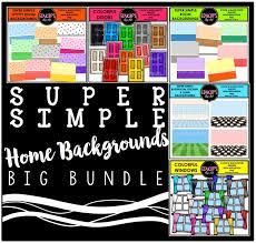 super simple home backgrounds clip art big bundle color and b u0026w