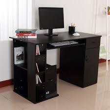 Pc Desk Ideas Home Office Computer Desk Study Pc Table W Storage Printer Shelf