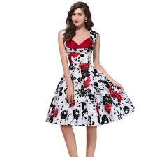 vintage floral plus size dresses clothing for large ladies