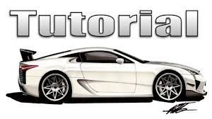 sports cars side view how to draw a car in side view lexus lfa youtube