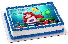 the mermaid cake ariel the mermaid edible cake topper cupcake toppers