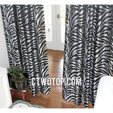 fancy fabric affordable silver and black zebra print curtains