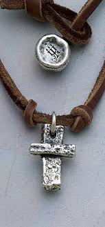 avery crosses woven cross on leather necklace adorned hearts ring from