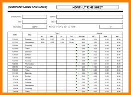 Timesheet Excel Template 10 Employee Timesheet Excel Science Resume