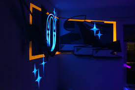 anamorphic painting with fluor on behance