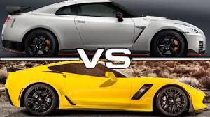 nissan gtr vs corvette z06 2017 nissan gt r nismo vs 2016 chevrolet corvette z06