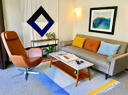 mid century modern color play in illinois freshpractice design