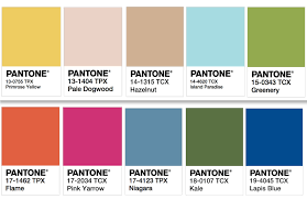 pantone color palettes get inspired with pantone s colors of the year your easy garden