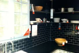 black kitchen backsplash subway kitchen tile backsplash ideas