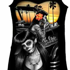 dga tops pinup rockabilly sugar skull tank top poshmark