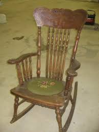 Wood Rocking Chair Antique Rocking Chairs Foter