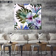 aliexpress com buy 2017 spring summer tropical flowers palm tree