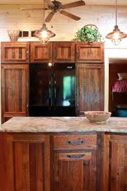 this kitchen is made from 100 year old reclaimed barnwood from the