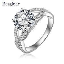 aliexpress buy brand tracyswing rings for women beagloer brand trendy engagement rings silver color micro pave cubic
