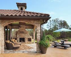 Outdoor Fireplace Houston by Outdoor Stone Fireplace Houzz